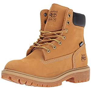 Timberland PRO Women's Direct Attach 6″ Steel-Toe Waterproof Insulated Work Shoe