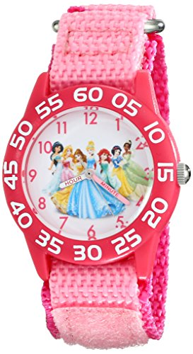 Disney Kids' W001990 Princess Time Teacher Watch With Pink Nylon Band
