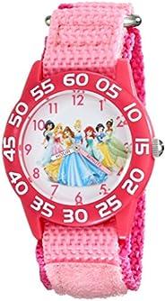 Disney Kid's W001990 Princess Time Teacher Watch with Pink Nylon