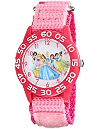 Kids' W001990 Princess Time Teacher Watch With Pink Nylon Band