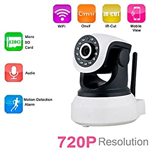 Phiseco Wireless Camera Baby Monitor IP Camera WiFi Surveillance Camera HD 720P Nanny Cam with Pan Tilt Motion Detection Two Way Audio and Night Vision for Home Security System from Big-brother-shop