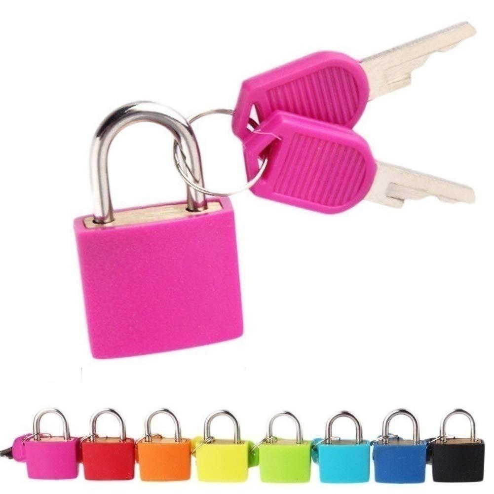 BrawljRORty, Luggage AccessoriesMini Padlock Students Bag Travel Luggage Suitcase Drawer Locks with 2Pcs Keys