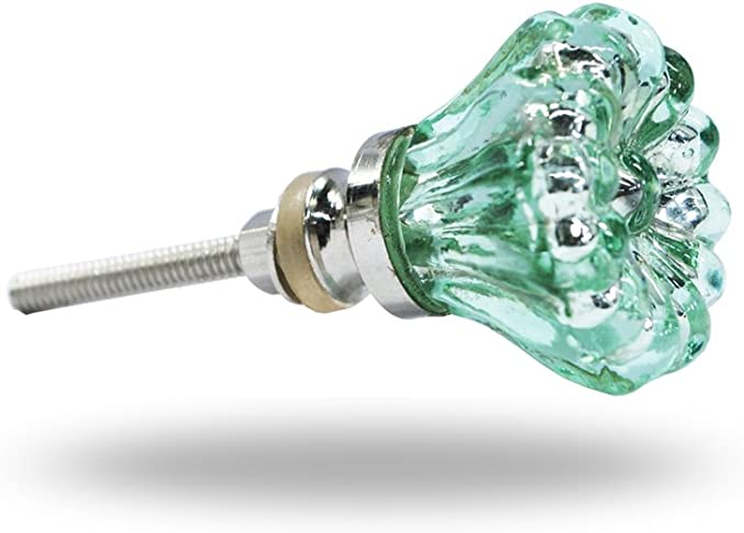 Trinca-Ferro vidrio Juego de 6 pomos de cristal para cajones de armario verde 6 unidades