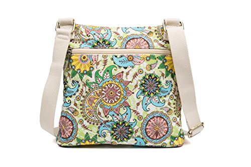 Malirona Women Crossbody Purse Hipster Cross Body Bag Canvas Shoulder Handbag Floral Design by Malirona (Image #7)