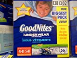 Health & Personal Care : Goodnites Underwear for Boys, Size 4-8 (38-65 Lbs.), 56 Ct.