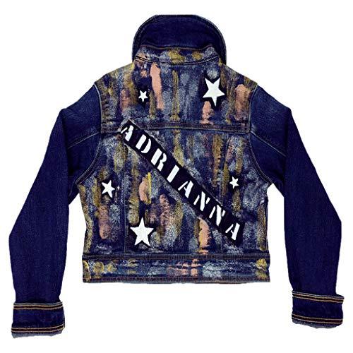 Starry Night Custom Denim Jean Jacket (Custom Denim Jacket)