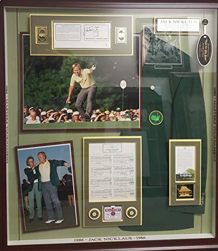 Encore Jack Nicklaus 1986 Masters Champion High Grade Wall Art 1986 Masters Shadow Box