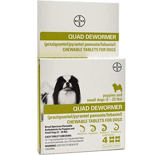 Quad Dewormer Small Dogs 2-25lb 4 Tablets by ExpertCare