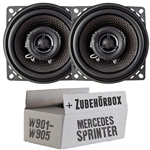 JUST SOUND best choice for caraudio Ampire CP100-10cm Lautsprecher 2-Wege Koaxialsystem Einbauset f/ür Mercedes Sprinter Front