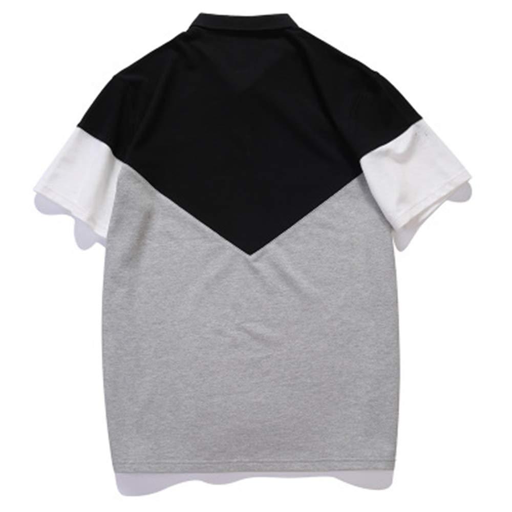 Gusha Mens Fashion Polo Shirt Fashion Sweatshirt Stand Collar Shirt