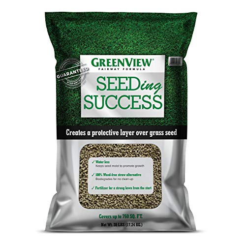 - GreenView Fairway Formula Seeding Success (2329835) Biodegradable Mulch with Fertilizer - 38 lb. - Covers 760 sq. ft.
