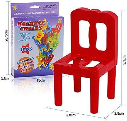 Sillas de plástico apilamiento Equilibrio Juguetes Inteligencia ...
