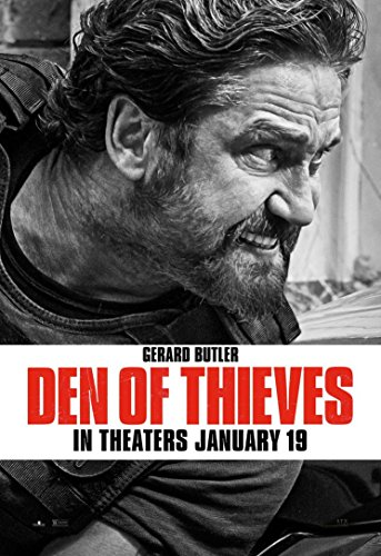 Gabriela 24inch x 35inch Den of Thieves Gerard Butler Pablo Schreiber O'Shea Jackson Jr. Waterproof Poster (Bathroom, Outdoors wherever you like) By