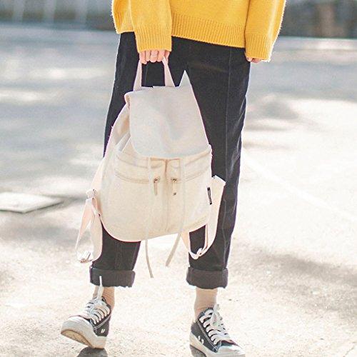 39inx5 borsa casual nero Lamdoo colori femmina scuola cute White zaino canvas Candy 11 Girls Tela 42inx13 29cmx34cmx13cm 12in viaggio teenager Yellow 5XnUn7x