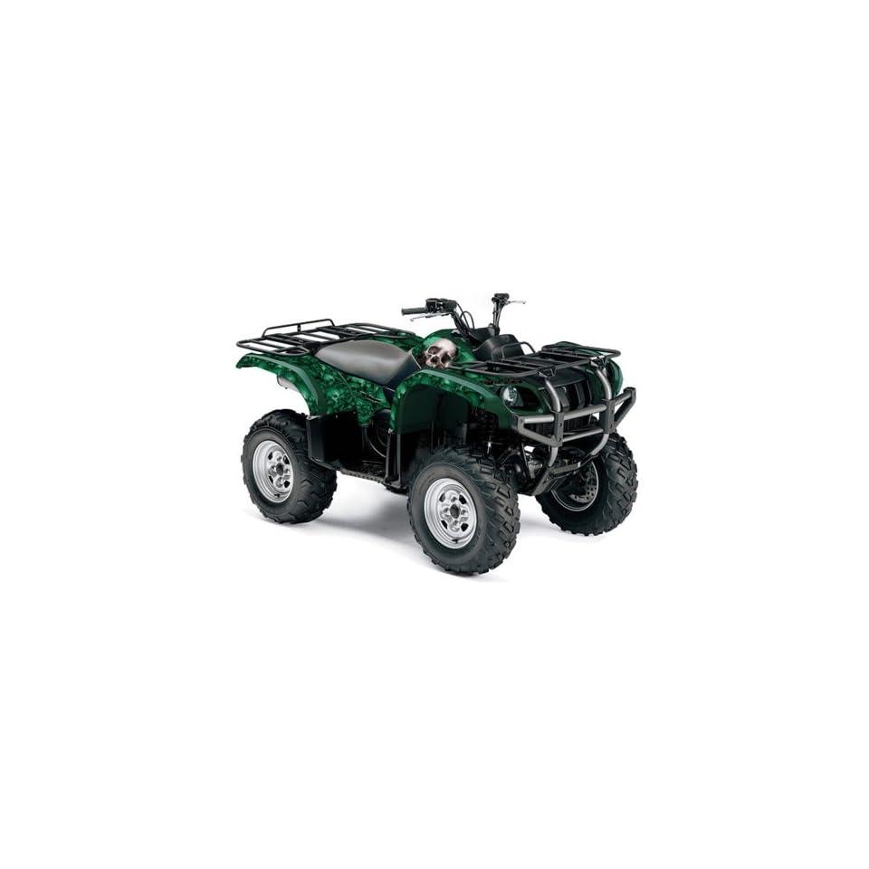 AMR Racing Yamaha Grizzly 660 ATV Quad Graphic Kit   Bone Collector Green