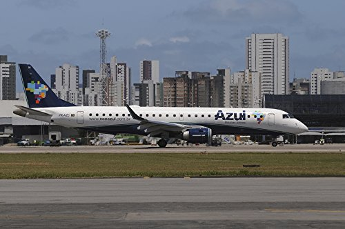 embraer-190-from-azul-brazilian-airlines-taken-at-recife-airport-brazil-poster-print-34-x-22