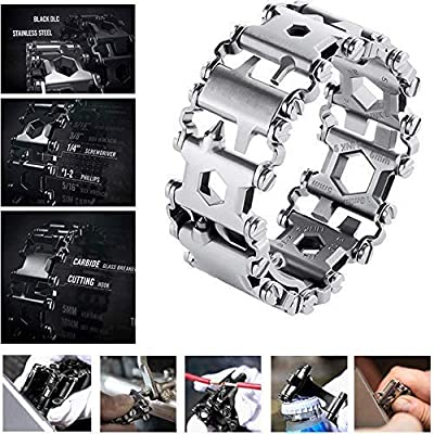 Diamond Survival Multitools Silver Bracelet - Original Travel Friendly Wearable Wilderness Bracelets for Sailing Travel Camping Hiking from Diamond Team
