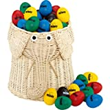 Nino Percussion VE80-NINO540 Plastic Egg Shaker Assortment with Basket, 80 Pieces