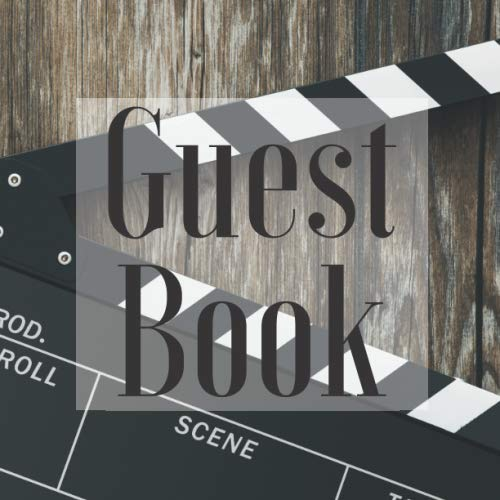 Guest Book: Movie Hollywood Film Theme - Signing Guestbook Gift Log Photo Space Book for Birthday Party Celebration Anniversary Baby Bridal Shower ... Keepsake to Write Special Memories In]()