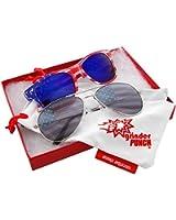 grinderPUNCH® American Patriot Flag Wayfarer Sunglasses Mirror Lens USA