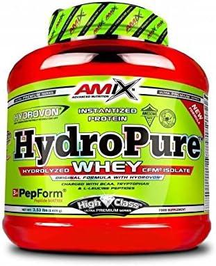 Amix High Class HydroPure Whey - 1600gr aislado de proteína de suero de leche hidrolizado milk vainilla