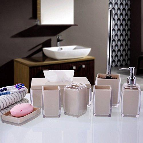 7 Piece Acrylic Bathroom Set - Home Decor - Rustic Decor - Cottage Chic - Bathroom Accessory