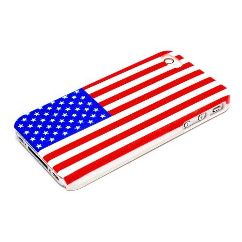 iPhone 4 4S Housse Portable Coque Poche Étui Dur Dos Hard Case Motif Drapeau Américain