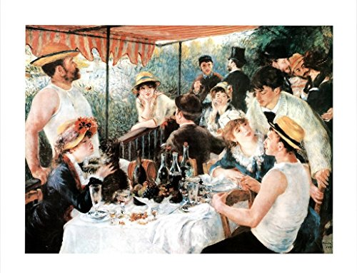 Pierre Auguste Renoir Luncheon of The Boating Party Art Print Poster 36x24 inch