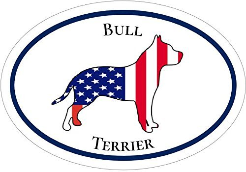 ION Graphics Magnet Oval American Flag Pit Bull Terrier Vinyl - Pit Bull Vinyl Magnet - Perfect Pit Bull Gift Size: 4.7 x 3.3 inch