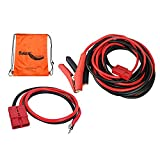 RUGCEL WINCH 1-Gauge 800A Permanent Installation kit Jumper Battery Cables with Quick Connect Plug 30 Ft Booster Jump Start ENB-130-30' Allows You to Boost a Battery from Behind a Vehicle
