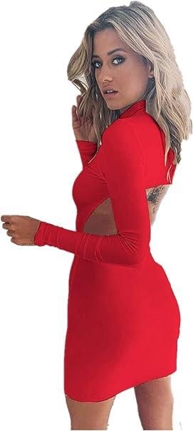 Fliegend damska sukienka bodycon z rolowanym kołnierzem, sweter, sukienka na zimę, sukienka na jesień, slim fit, seksowna sukienka na imprezę, do klubu nocnego: Odzież