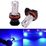 h11 blue headlight bulbs - 2 PCS Car H8 H11 33-SMD LED Xenon Head Light Headlight Bulbs Lamp or Daytime Running Lights Lighting DRL 12V 7.5W - Blue