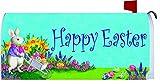 wheel barrow cover - Bunny Wheelbarrow - Happy Easter Decorative Mailbox Cover Magnetic Mail Box Wrap Yard Garden Decor Mail Wrap 17.25 X 20.75 Inches