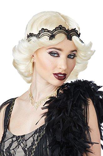 Blonde Curly Flapper Wig With Headband (20s Glitz and Glamour Flapper Wig and Headband (Blonde))