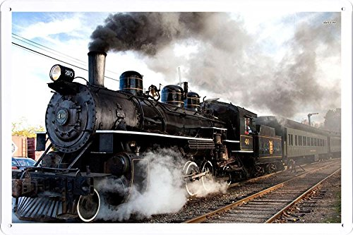 (Steam Train Tin Poster by Food & Beverage Decor Sign)