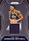 #9: 2017-18 Panini Prizm Sensational Swatches Relics #SW-DM Donovan Mitchell Player Worn Jersey Basketball Card from Rookie Season