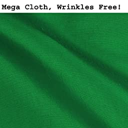 CowboyStudio Premium Mega Cloth Chromakey Green Backdrop 10 x 20 Feet, Wrinkles Free
