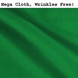 CowboyStudio Premium Mega Cloth Chromakey Green Backdrop 10 x 24 Feet, Wrinkles Free