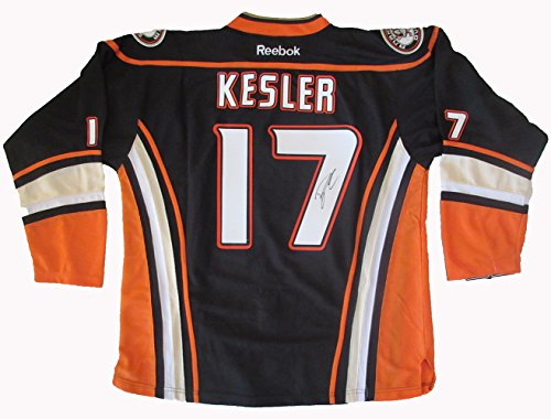 (Ryan Kesler Autographed Anaheim Ducks Jersey W/PROOF, Picture of Ryan Signing For Us, Anaheim Ducks, Ryan Getzlaf, Corey Perry, Vancouver Canucks, Team USA, Olympics)