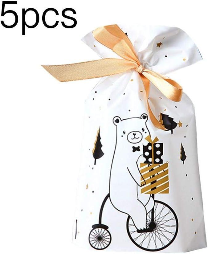 Verpackungs-Geschenk-Taschen Mit Eingesetzten B/ändern Mittlere Drawstring-Geschenk-Taschen Mit Sankt-Ren-Weihnachtsbaum-Muster-Feriengeschenk-Taschen Frohe Weihnacht-Geschenk-Tasche In Der Masse