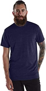 product image for US Blanks Men's Short-Sleeve Made in USA Triblend T-Shirt S TRI NAVY