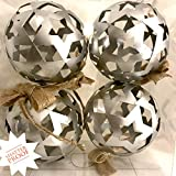Decorative Ball for Bowl Centerpiece for Table Decor Vase Orb Filler Large Dining Sphere Metal Set of 4 Home Silver Orbs