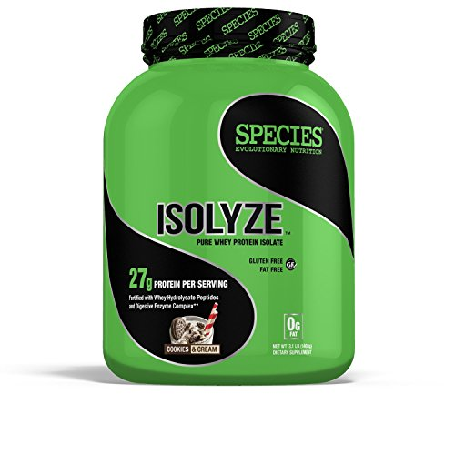 Species Nutrition Isolyze, Cookies and Cream, 3.1 Pound (Pack of 4) by Species Nutrition
