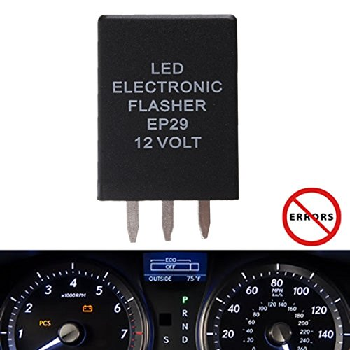 4-Pin EP29 EP29N Electronic LED Flasher Relay Fix For LED Turn Signal Bulbs Hyper Flash Fix ()