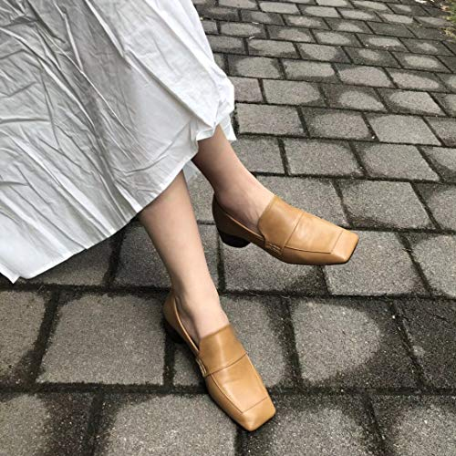 Single Head White With heeled Thick Of High Women's Yukun Square Alto Feet Sets Shoes Fashion Autumn Tacón Zapatos De qqxBU6
