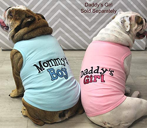 Parisian Pet Dog Cat Clothes Tee Shirts Mommy's Boy, Daddy's Girl, Big Brother, Big Sister, Little Brother, Little Sister, I Love Mommy, I Love Daddy