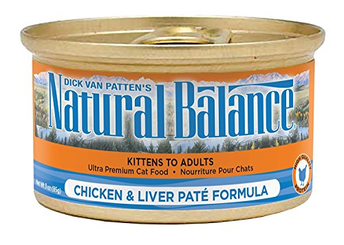 (Natural Balance Chicken & Liver Pate Formula Ultra Premium Canned Cat)