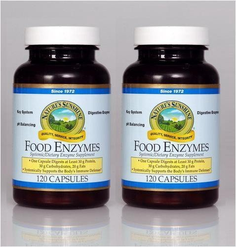 od Enzymes Supports Digestive System 120 Capsules (Pack of 2) by Nature's Sunshine ()