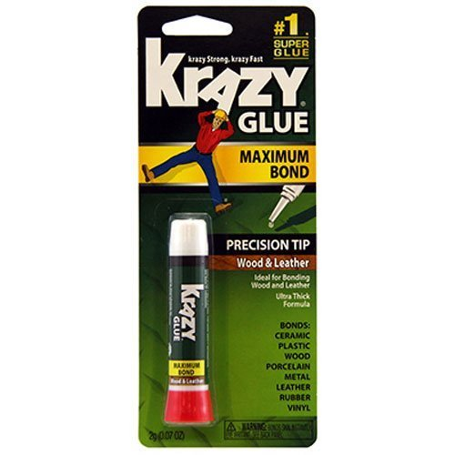 (Krazy Glue KG82148R Instant Crazy Glue Wood and Leather Formula Tube 0.07-Ounce by Krazy Glue)