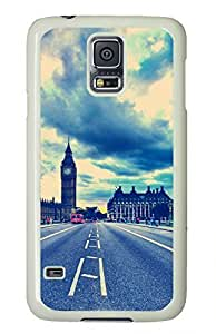 White Fashion Case for Samsung Galaxy S5,PC Case Cover for Samsung Galaxy S5 with City Impression